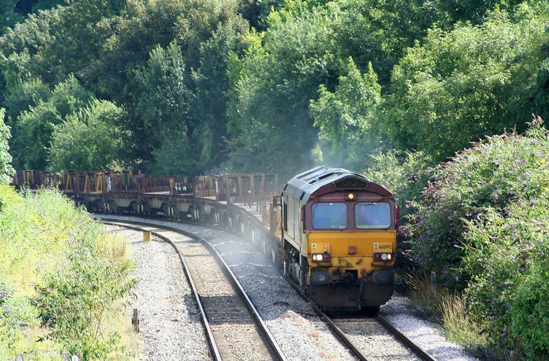 66092, 14.51 Margam-Lackenby, Chepstow, 30-7-09.