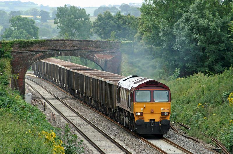 59204, 12.26 Exeter Riverside Yard-Westbury Yard, Willand, near Tiverton, 22-7-09.
