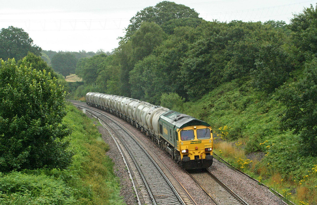 66527, 20.55 Earles Sidings-Moorswater, Whiteball, 21-7-09.