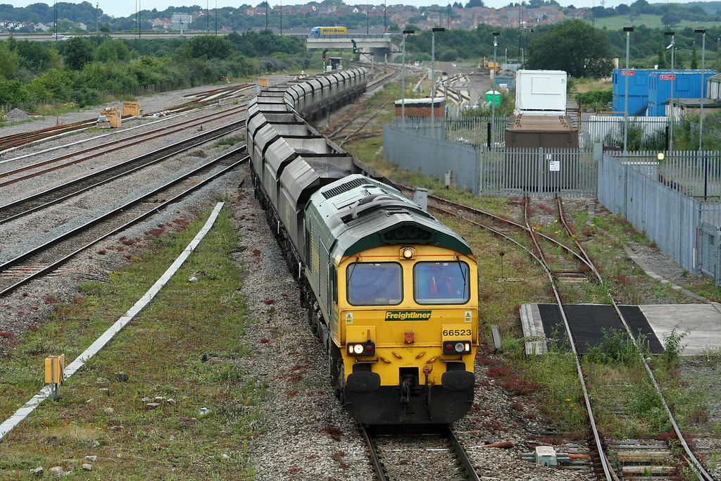 66523, Rugeley Power Station-Avonmouth Bulk Handling Terminal, Severn Tunnel Junction, 10-7-09.
