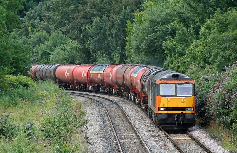 60059, 05.10 Robeston-Westerleigh, Chepstow, 30-7-09.