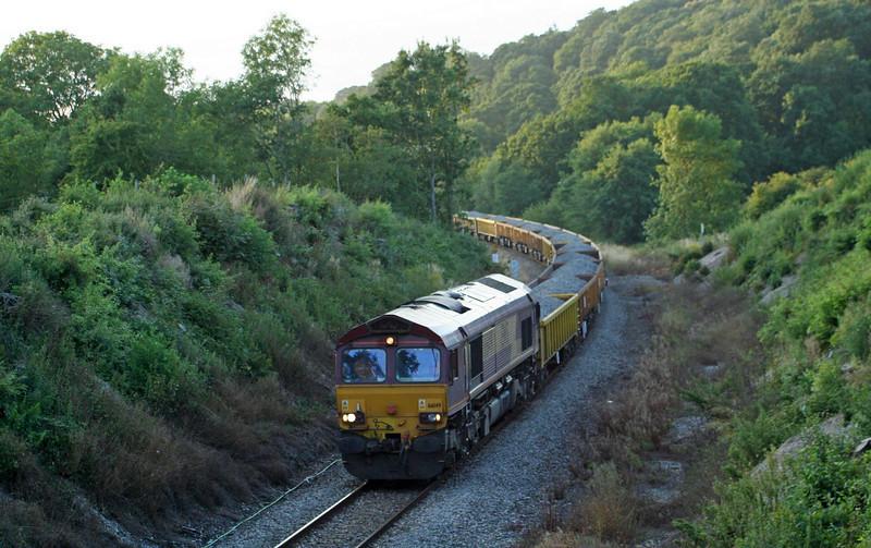 66149, 18.50 Meldon Quarry-Westbury Yard, Cowley, near Exeter, 22-7-09.