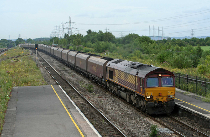 66194, 15.00 Portbury-Aberthaw Power Station, Severn Tunnel Junction, 10-7-09.