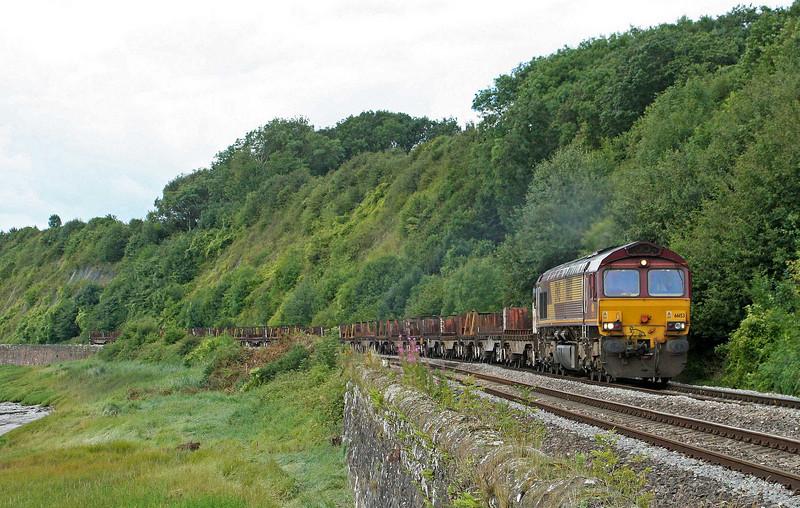 66153, 08.54 Margam-Lackenby, Gatcombe, 30-7-09.