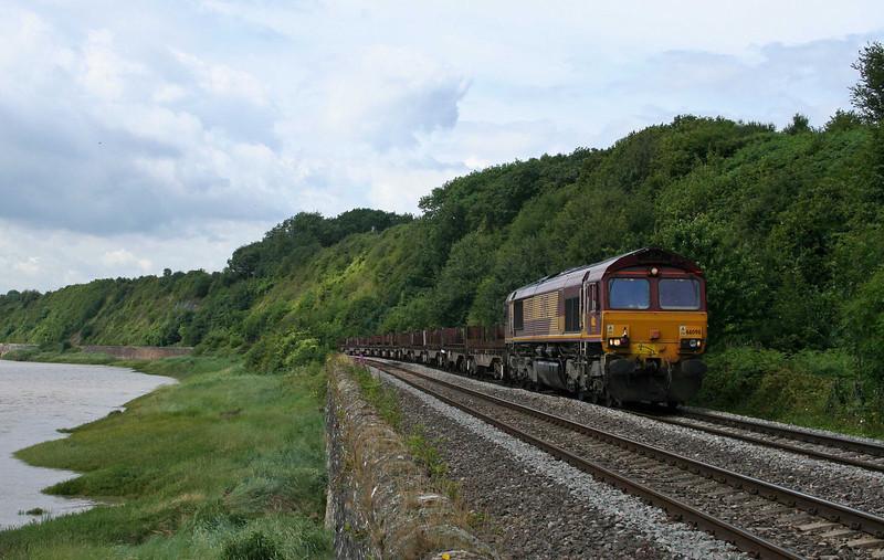 66098, 08.54 Margam-Lackenby, Gatcombe, 10-7-09.
