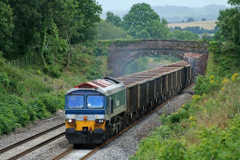 59101, 12.26 Exeter Riverside Yard-Westbury Yard, Willand, near Tiverton, 23-7-09.