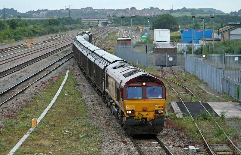66100, 18.11 Newport Alexandra Dock Junction-Wembley Yard, Severn Tunnel Junction, 10-7-09.