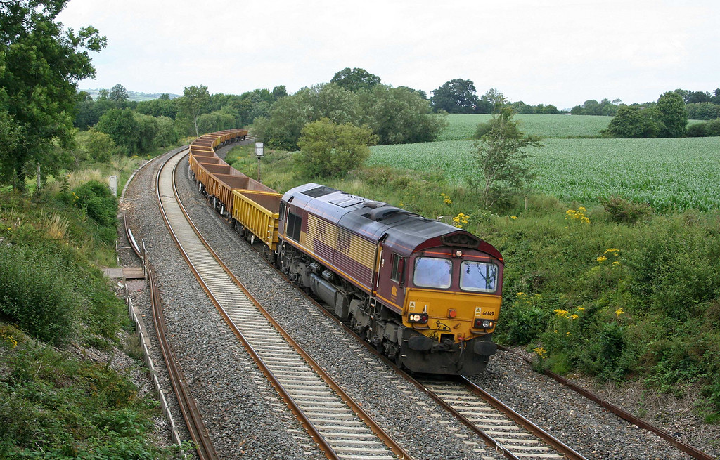 66149, 12.20 Westbury Yard-Meldon Quarry, Willand, near Tiverton, 22-7-09.