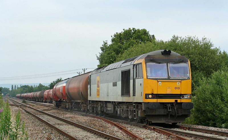 60013, 05.10 Robeston-Westerleigh, leaving Lydney loops, 25-6-09.