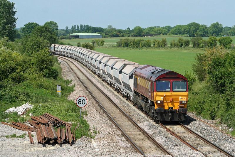 59202, 10.31 Merehead Quarry-Acton Yard, London, Crofton, 3-6-09.