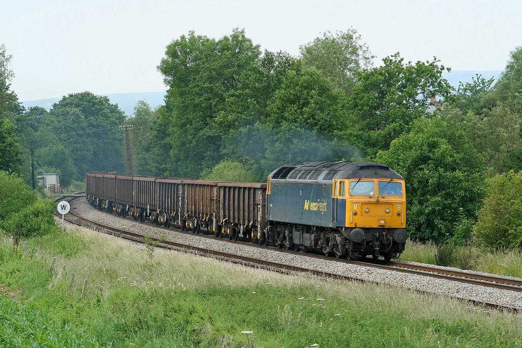 57006, 09.48 Cardiff Tidal Yard-Shipley/Stockton, Cliff Farm, Lydney, 25-6-09.