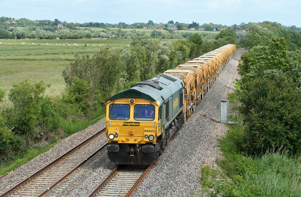 66622, 13.12 Westbury Virtual Quarry-Taunton Fairwater Yard, Wick, near Langport, 19-6-09.