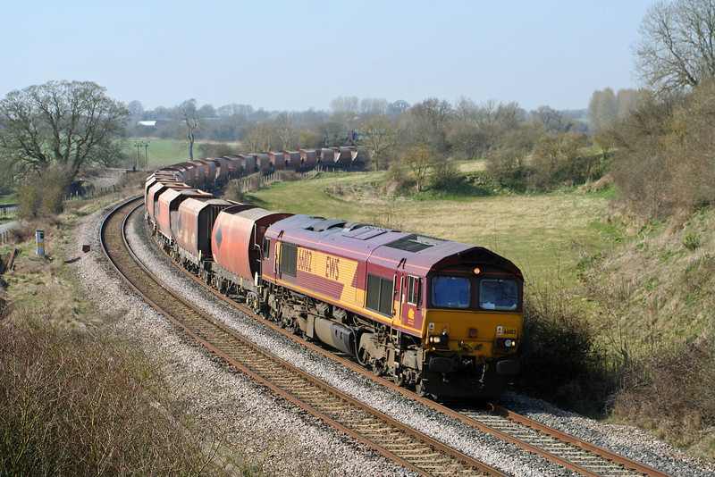 66102, 10.37 Whatley Quarry-London St Pancras, Crofton, 20-3-09.