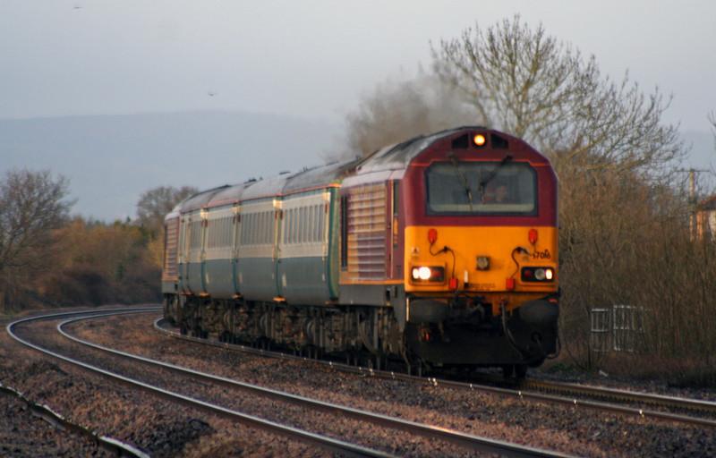 67016/67017, top'n'tail 07.28 Taunton-Bristol Parkway, Cogload, 3-3-09.