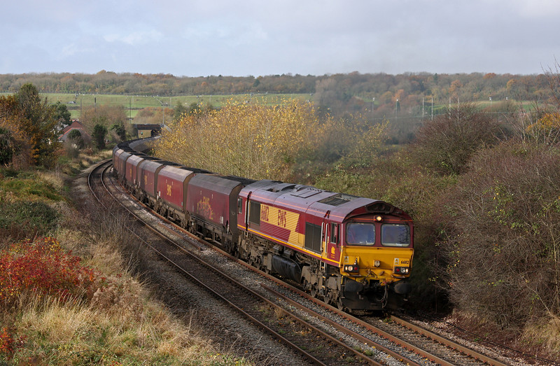 66112, 10.58 Avonmouth Bulk Handling Terminal-Didcot Power Station, Brentry, Bristol, 20-11-09.