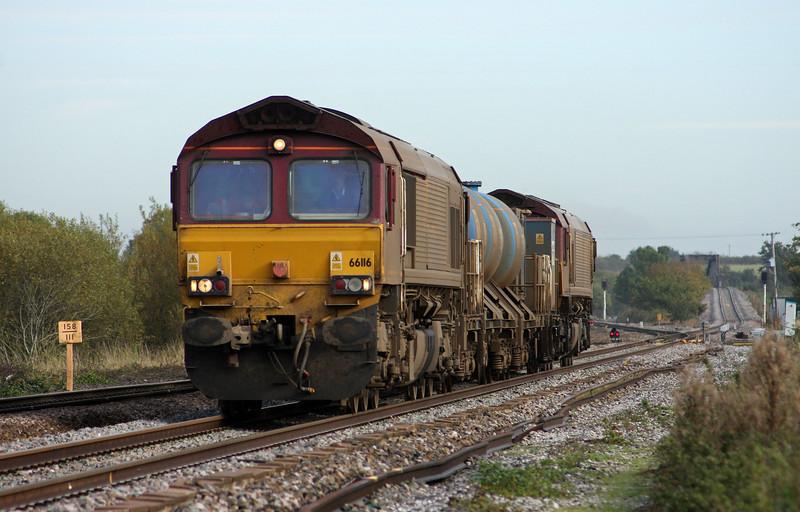 66116/66153, 08.45 Westbury-St Blazey, Cogload, 23-10-09.