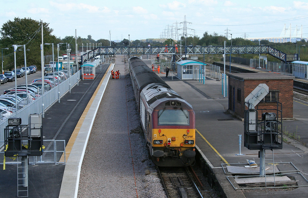 67016/67017, 14.00 Cardiff Central-Taunton, Severn Tunnel Junction, 8-10-09.