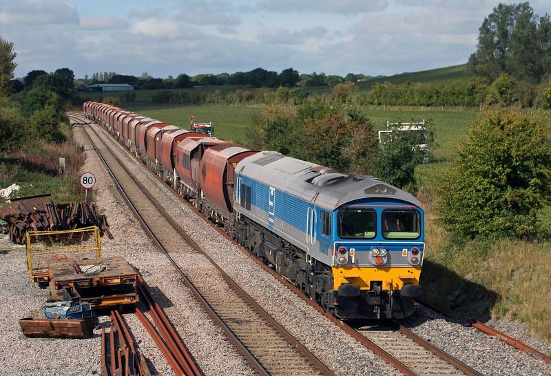59002, 10.37 Whatley Quarry- London St Pancras, Crofton, 24-9-09.