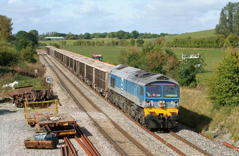 59004, 10.31 Merehead Quarry-Acton, London, Crofton, 24-9-09.