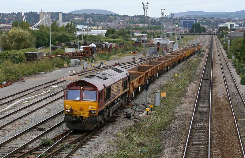 66167, 15.12 Newport Alexandra Dock Junction-Westbury Yard, Somerton, Newport, 17-9-09.