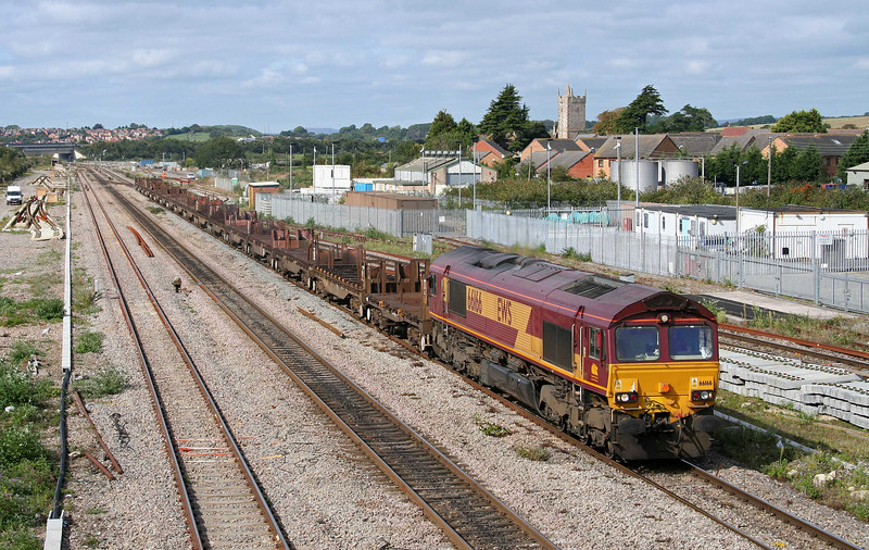 66166, 10.26 Llanwern-Lackenby, Severn Tunnel Junction, 17-9-09.