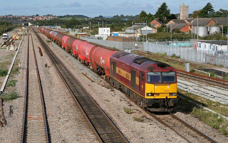 60035, 05.10 Robeston-Westerleigh,  Severn Tunnel Junction, 17-9-09.