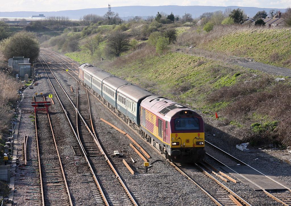 67022/67017, 17.00 Cardiff Central-Taunton, Pilning, 8-4-10.