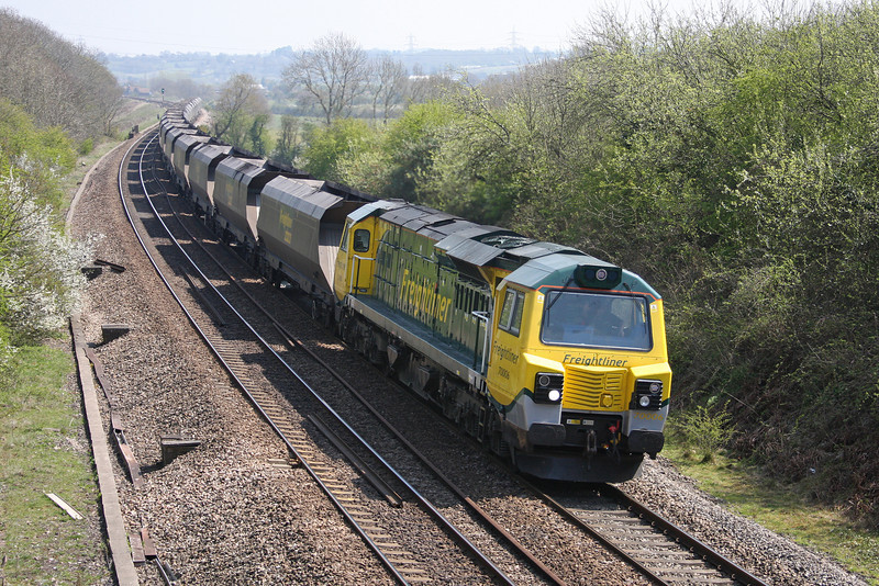 70006, 08.53 Rugeley Power Station-Bristol Stoke Gifford Yard, Coalpit Heath, near Bristol, 23-4-10.