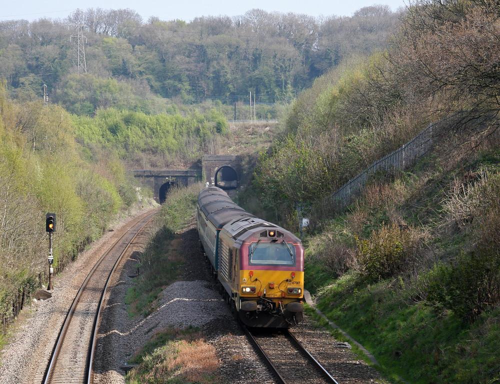 67017/67022, 12.47 Paignton-Cardiff Central, Cattybrook, Bristol, 23-4-10.
