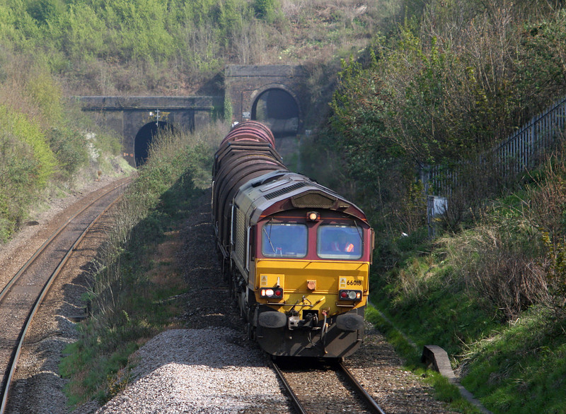 66018, 14.21 Swindon Steel Terminal-Llanwern, Cattybrook, Bristol, 23-4-10.