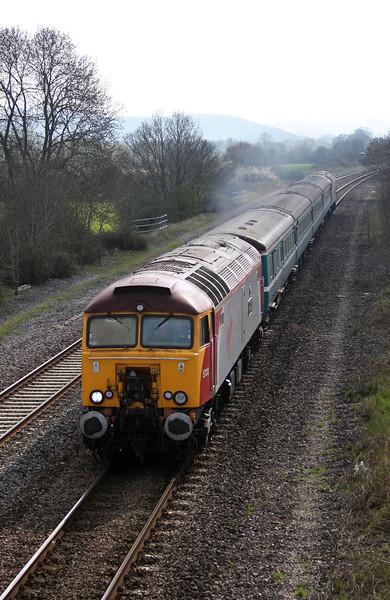 57312/57302, 16.16 Taunton-Cardiff Central, Cogload, 15-4-10.