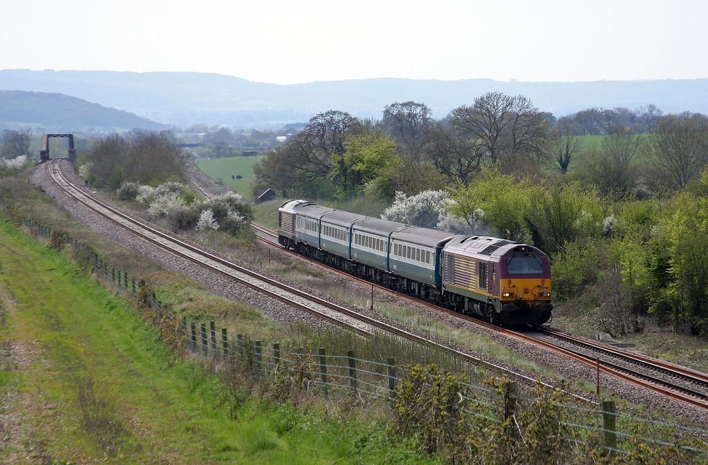 67017/67022, 12.47 Paignton-Cardiff Central, Cogload, 21-4-10.