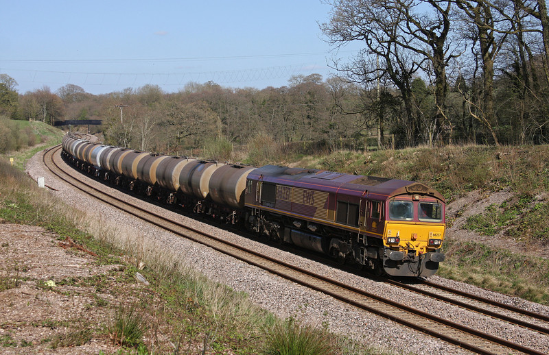 66237, 08.48 Fawley-Plymouth Tavistock Junction Yard, Burlescombe, near Tiverton, 20-4-10.