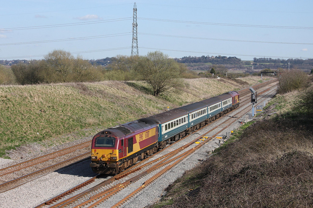 67017/67022, 12.47 Paignton-Cardiff Central, Pilning, 8-4-10.