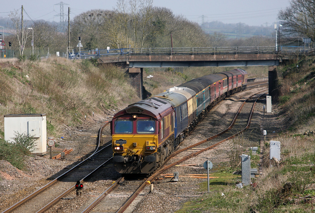 66101/67026, 05.57 Whitchurch (Shropshire)-Parkandillack, near St Blazey, Willand, near Tiverton, 10-4-10.