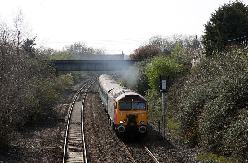 57312/57302, 16.16, Taunton-Cardiff Central, Creech St Michael, near Taunton,13-04-10.
