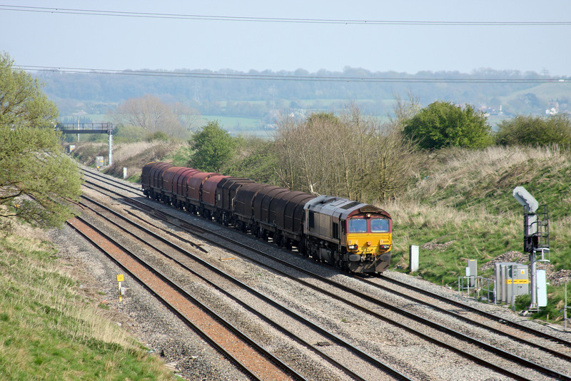 66018, 14.21 Swindon Steel Terminal-Llanwern, Pilning, 23-4-10.