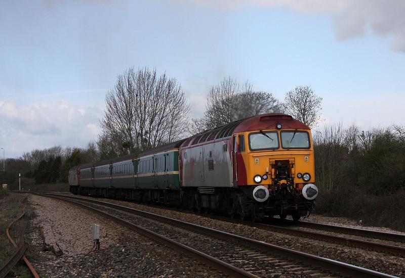 57302/57306, 11.02 Taunton-Cardiff Central, Bathpool, Taunton, 1-4-10.