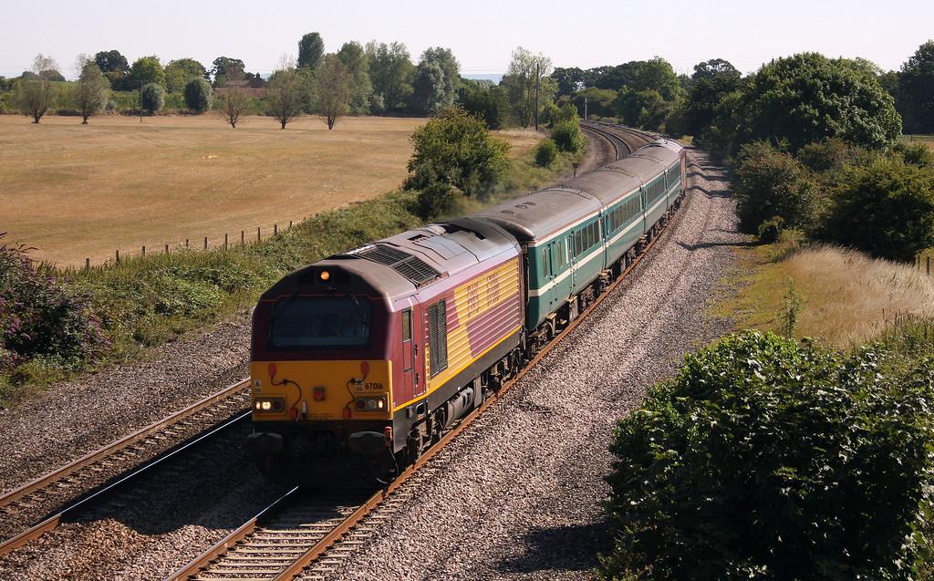 67016/67027, 10.10 Weston-super-Mare-Taunton, Creech St Michael, near Taunton,16-8-10.