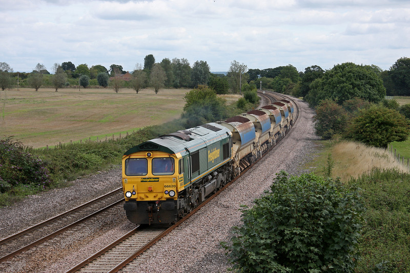 66620, 12.42 Westbury Virtual Quarry-Taunton Fairwater Yard. Creech St Michael, near Taunton, 27-8-10.