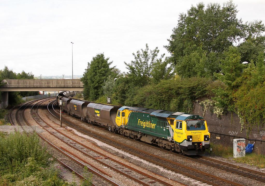 70003, 08.25 Portbury-Rugeley Power Station, Dr Day's Bridge Junction, Bristol, 5-8-10.