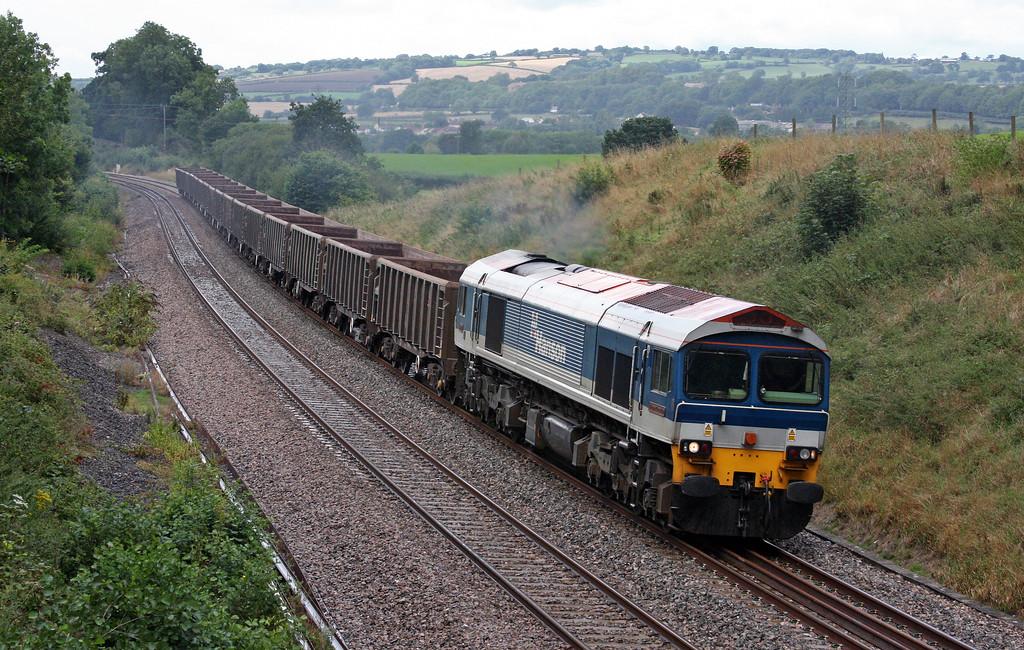 59104, 11.58 Exeter Riverside Yard-Whatley Quarry, Whiteball, 18-8-10,