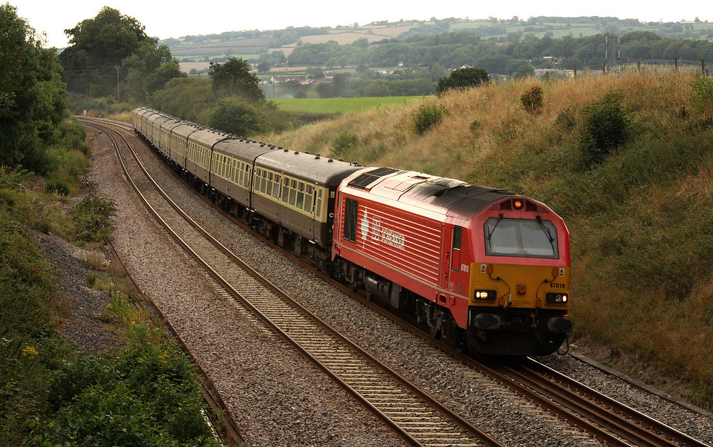 67018, 16.42 Kingswear-Bristol Temple Meads,  Torbay Express, Whiteball, 8-8-10, vice 71000.
