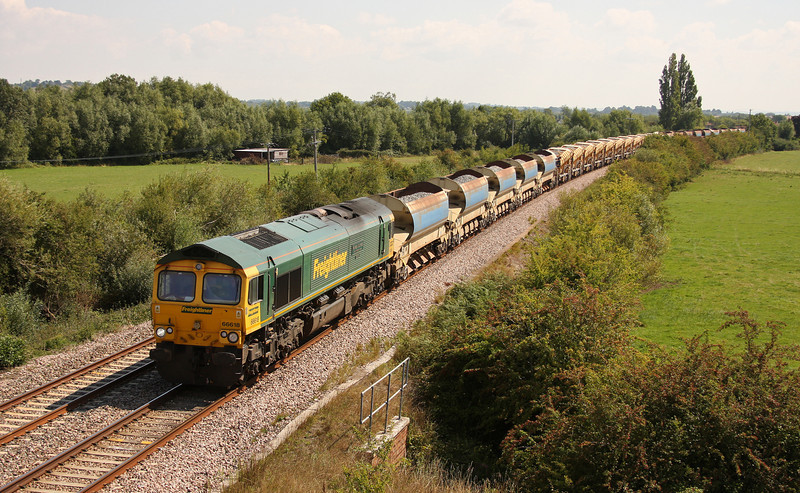 66618, 12.42 Westbury Virtual Quarry-Taunton Fairwater Yard, Oath, near Langport, 16-8-10.