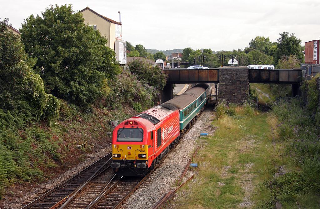67018/67016, 09.13 Bristol Parkway-Weston-super-Mare, Lawrence Hill,, Bristol, 5-8-10.
