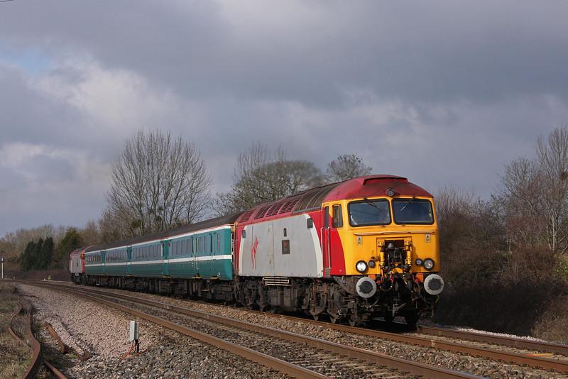 57309/57305, 11.02 Taunton-Cardiff Central, Bathpool, Taunton, 9-2-10.