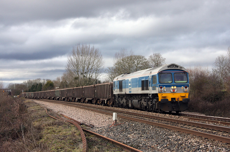 59002. 12.00 Exeter Riverside Yard-Westbury Yard, Bathpool, Taunton, 16-2-10.