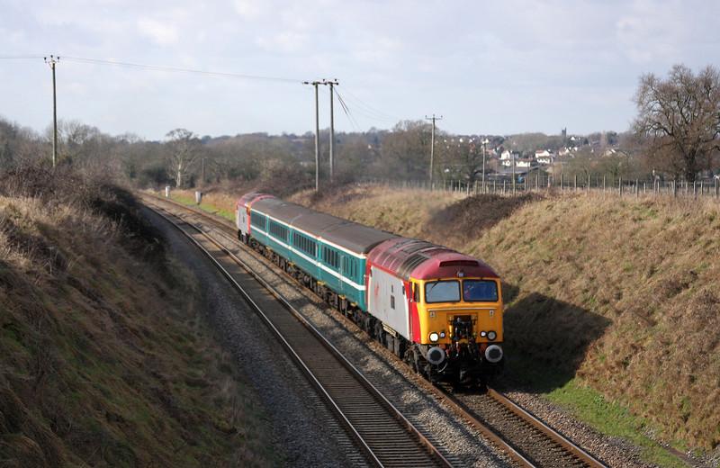 57309/57305, 11.02 Taunton-Cardiff Central, Flax Bourton, near Bristol, 10-2-10.