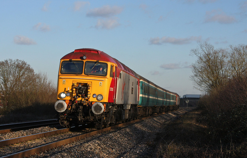 57305/57309, 14.00 Cardiff Central-Taunton, Bathpool, Taunton, 11-2-10.