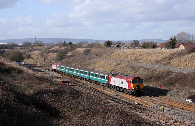 57309/57307, 14.00 Cardiff Central-Taunton, Pilning, 26-2-10.